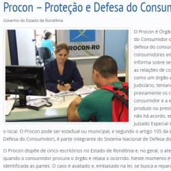 Procon RO (Rondônia) – reclamações e denúncias