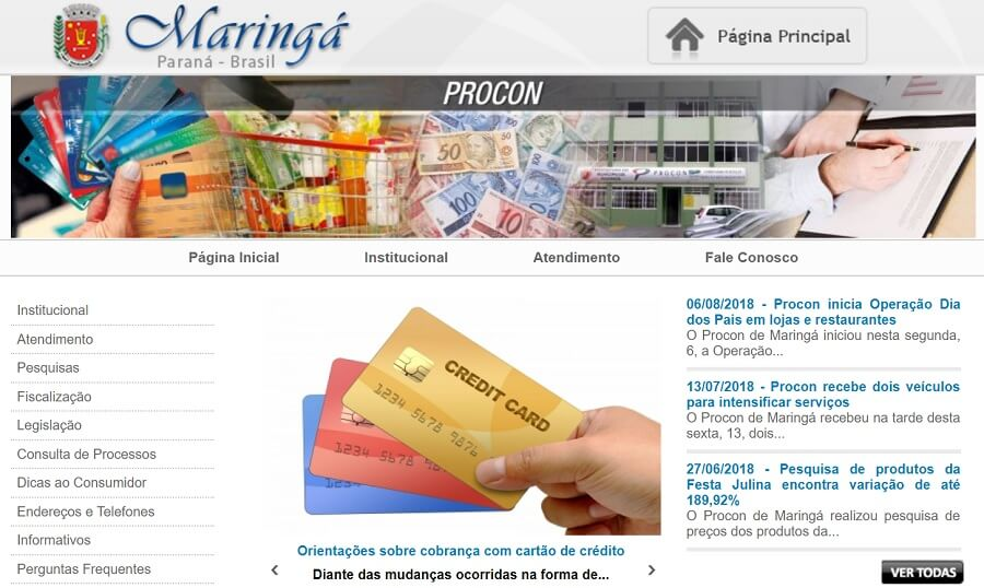 site do procon maringá paraná